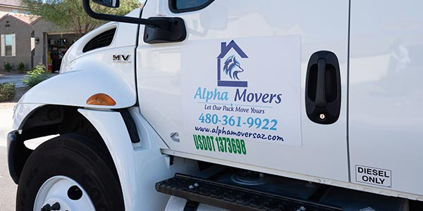 Alpha Movers moving truck
