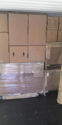 Image: boxes neatly packed and organized in a moving truck